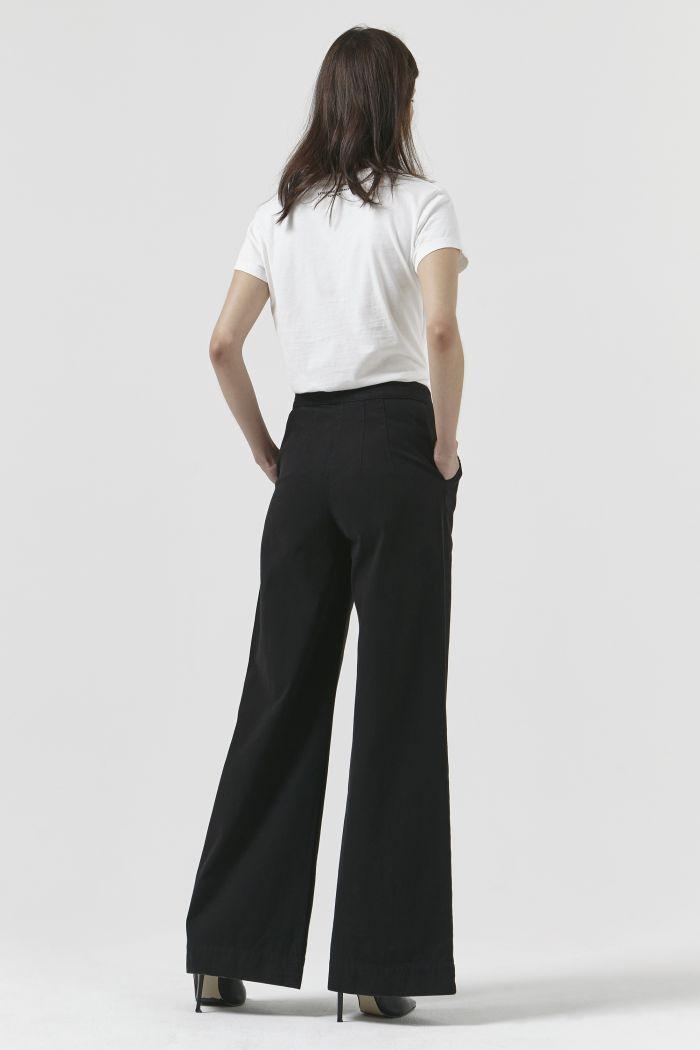 Anna Black Organic Cotton Trousers