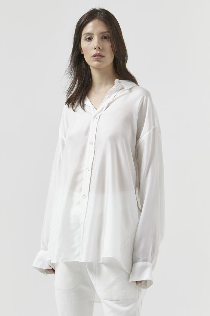 Nicola White Silk Shirt