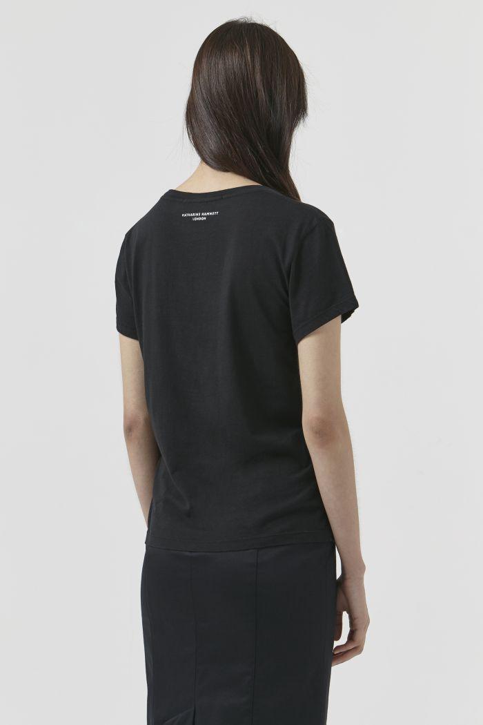 Katie Black Organic Cotton T-Shirt