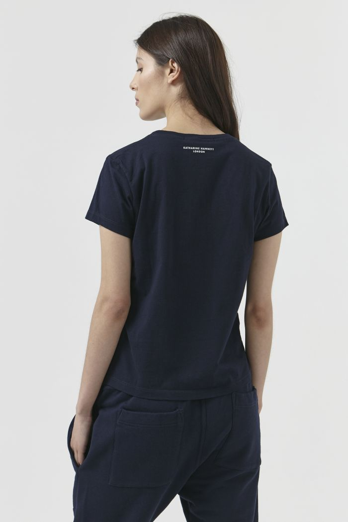 Katie Organic Cotton Navy T-Shirt