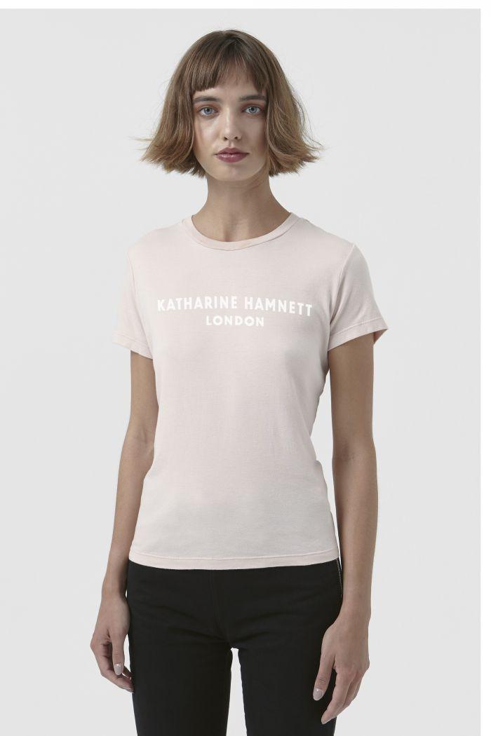 Katie light pink organic cotton t-shirt