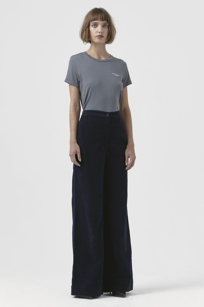 Anna Moleskin Navy TrouserS