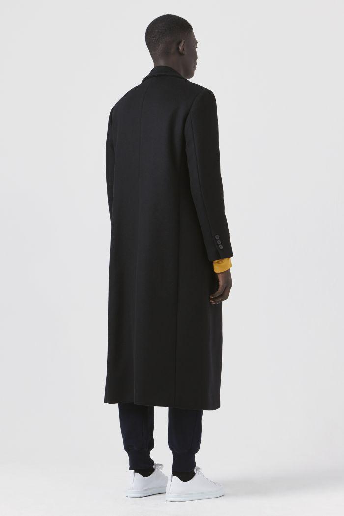 Darwall Black Recycled Wool Coat