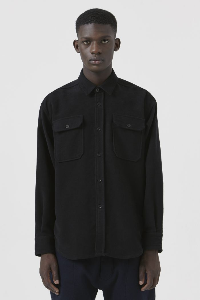 Dante Black Organic Cotton Shirt