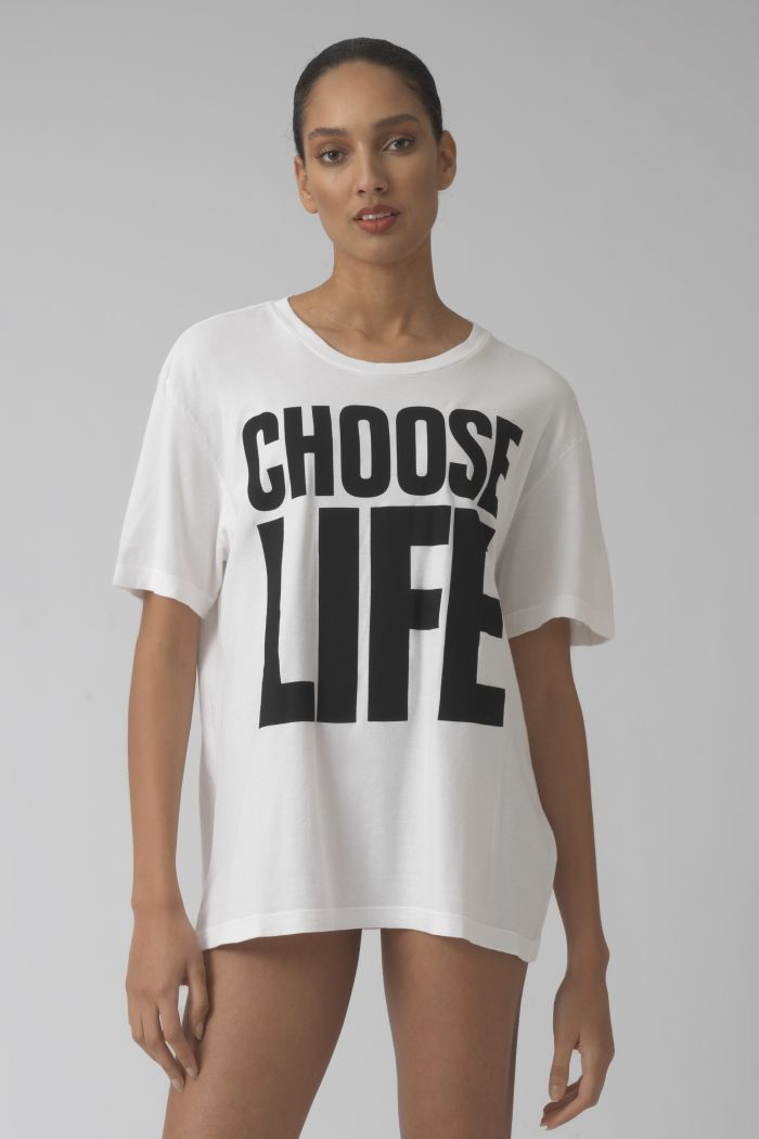 PRE-ORDER CHOOSE LIFE WHITE ORGANIC COTTON T-SHIRT