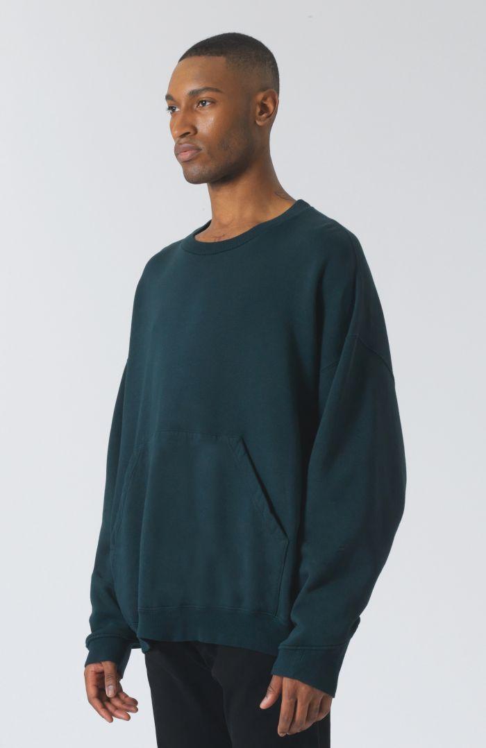 Joey logo green organic cotton sweatshirt
