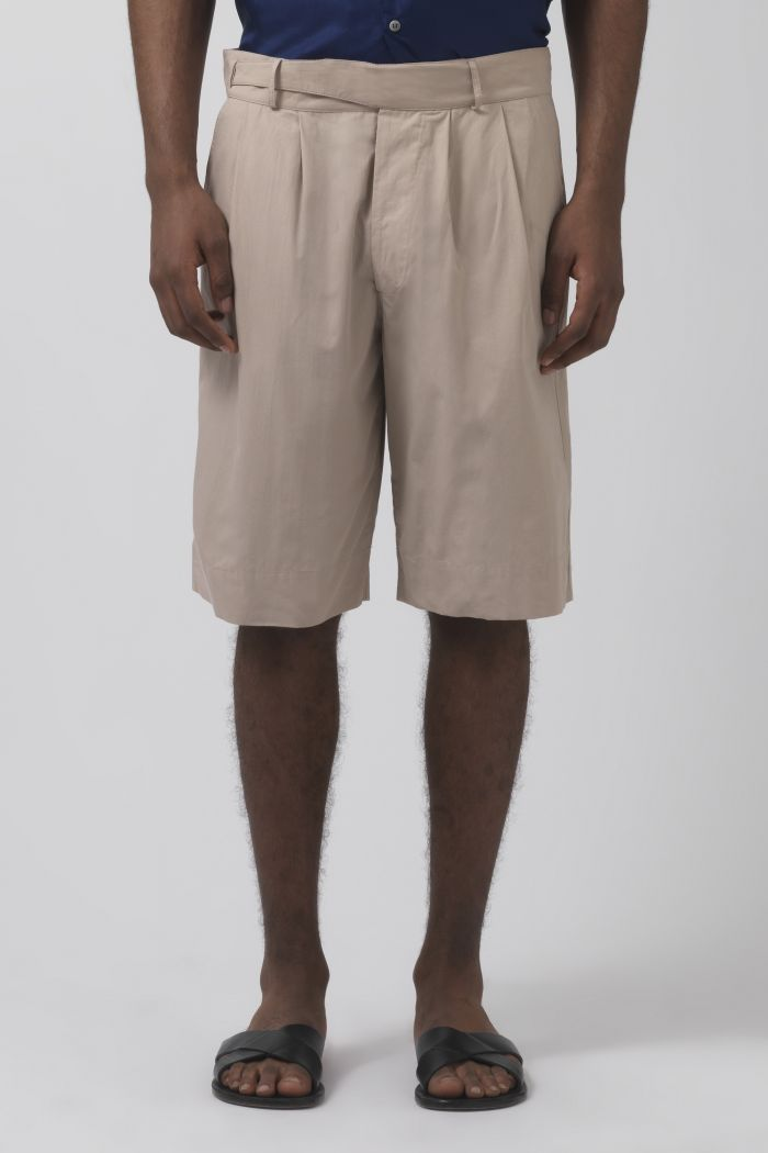 Cedric sand organic cotton shorts