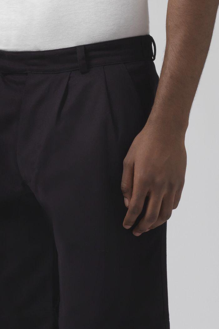 Army black organic cotton shorts