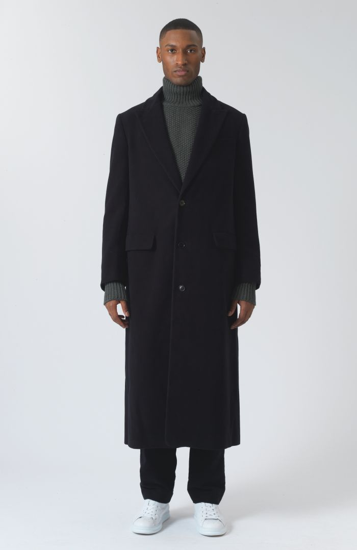 Darwall Black Organic cotton coat