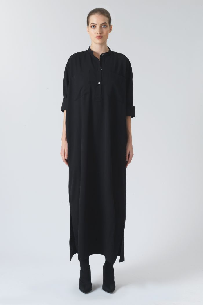 Kate Black Organic Wool Dress
