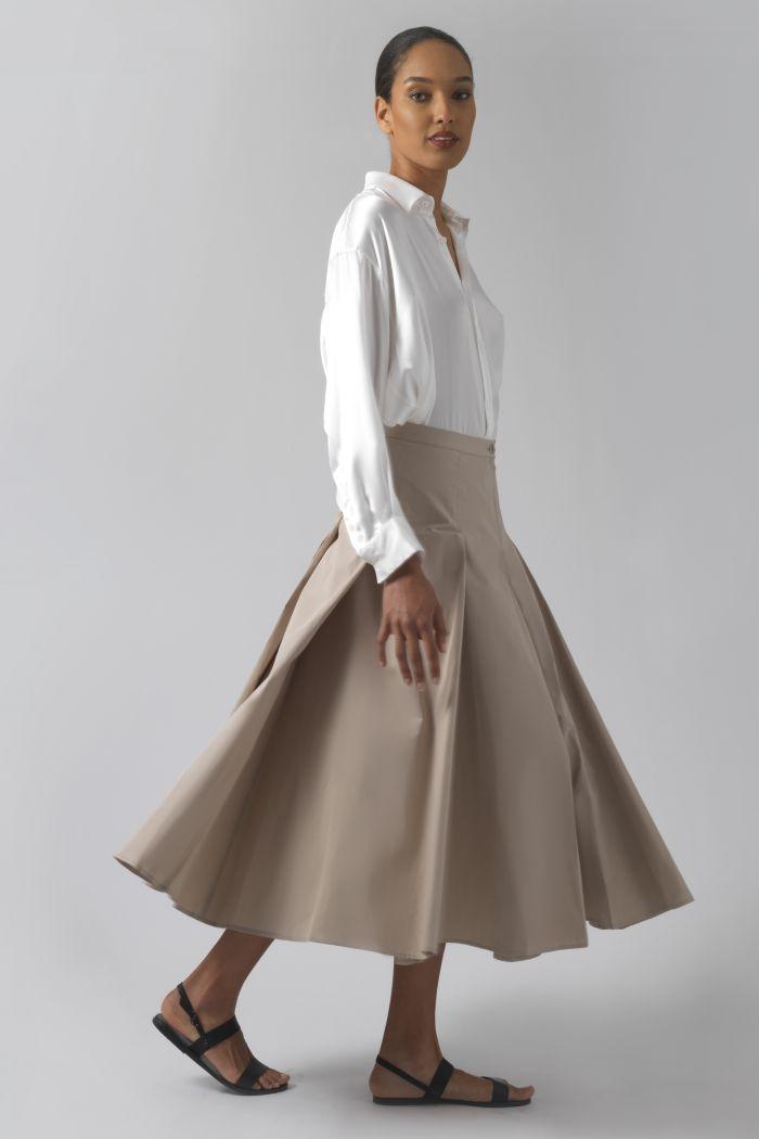 Rose sand organic cotton skirt