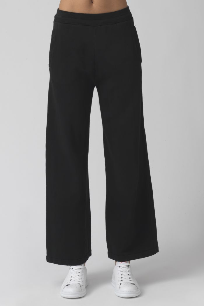 Vale Black Organic Cotton Trackpants