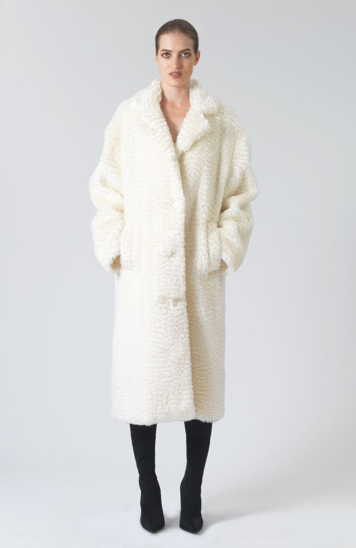 VELMA OVERSIZED BIO FUR COAT