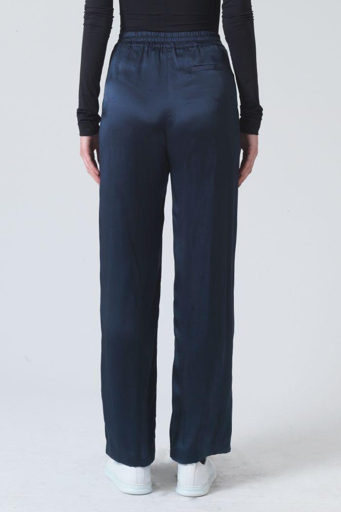 Gigi Green Silk Trousers