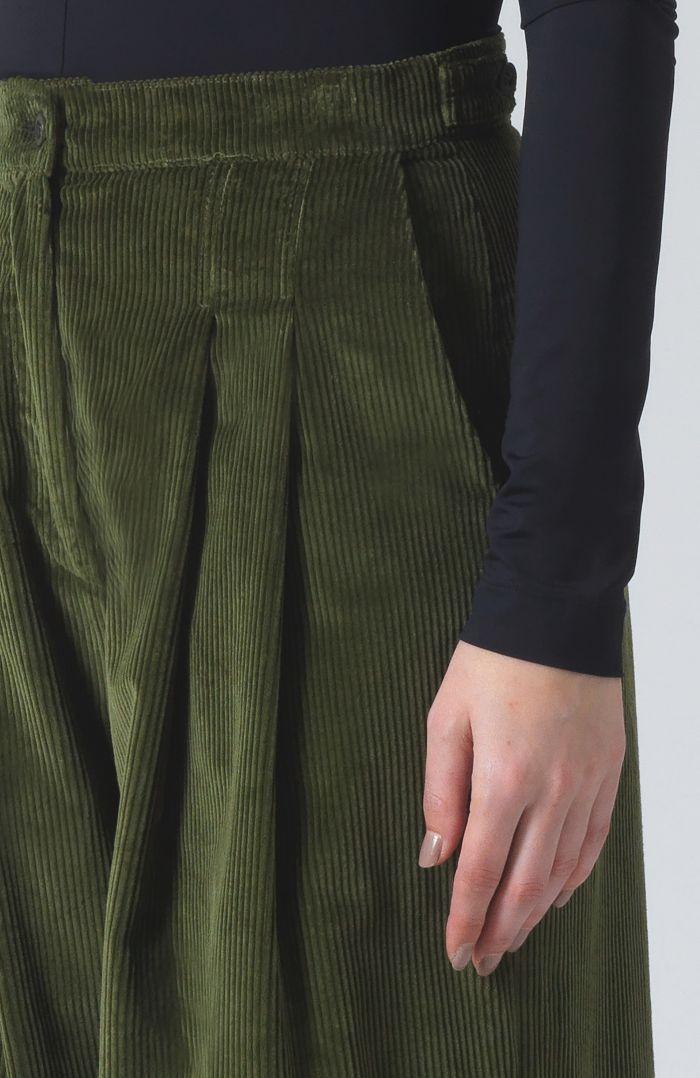 Ella Khaki Organic Cotton cord Trousers