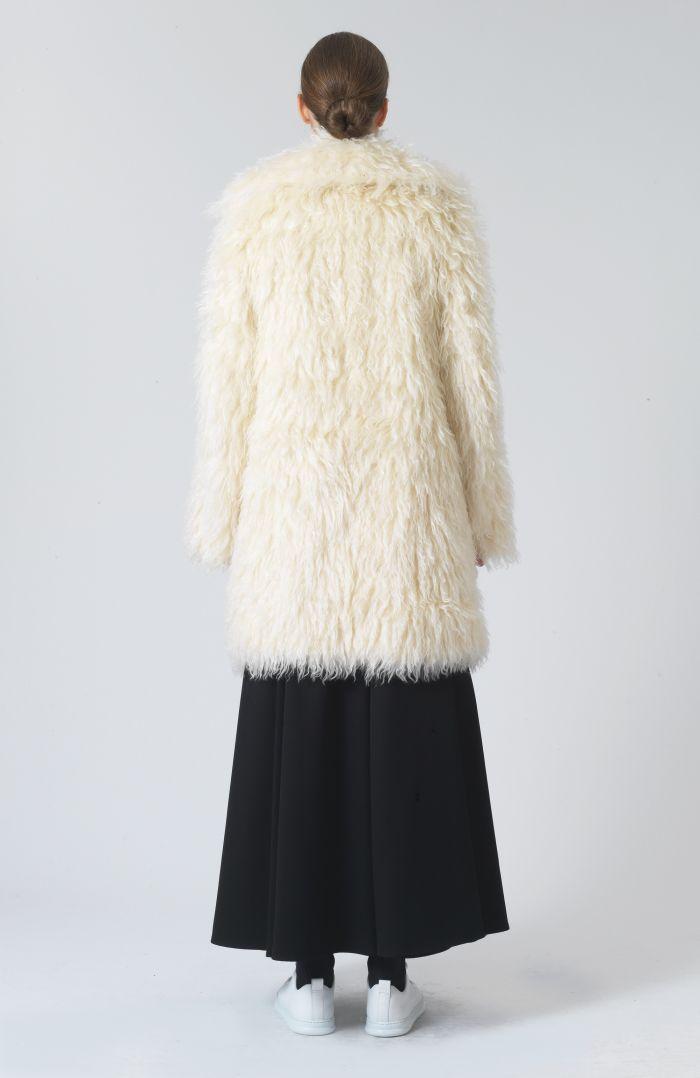 Samantha White Mohair Oversized Coat