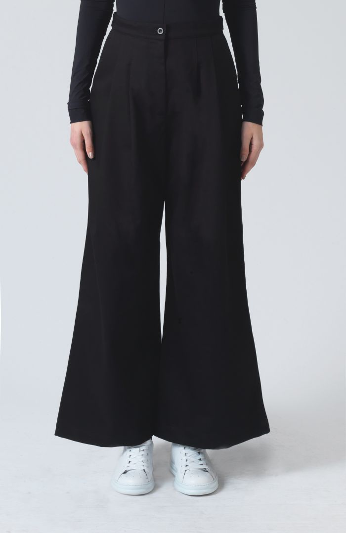 Ella Black Organic Cotton Trousers