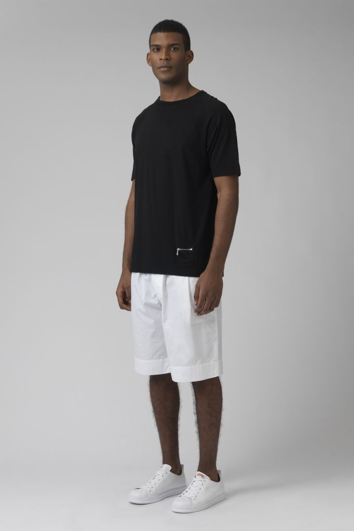 Army white organic cotton shorts