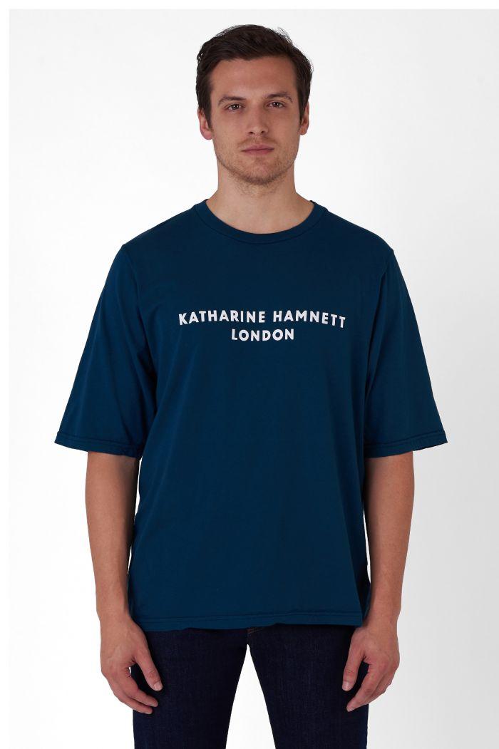 George teal organic cotton t-shirt