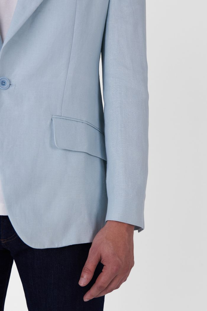 Plinio light blue organic cotton jacket