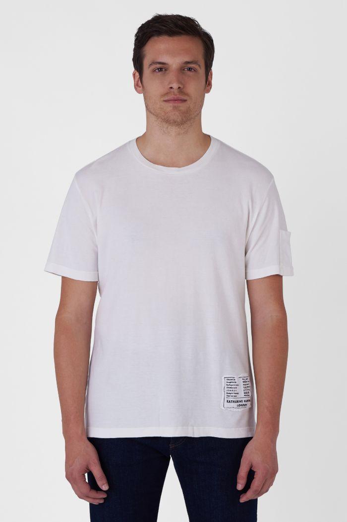 BOX-LOGO ORGANIC COTTON WHITE T-SHIRT