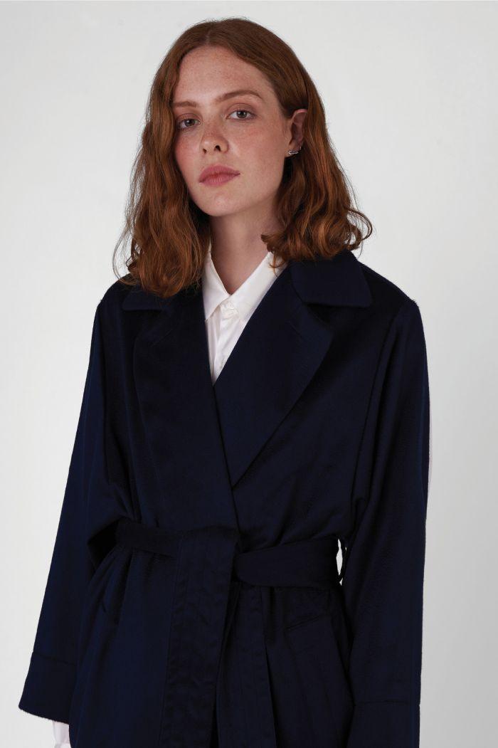 Lola regenerated cashmere trench coat