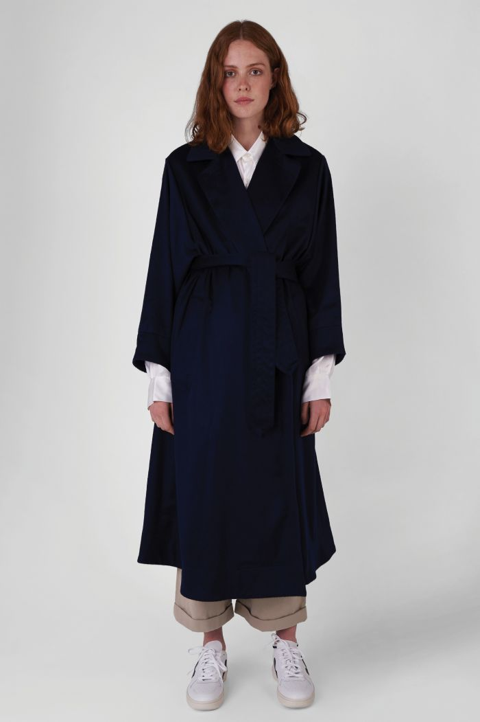 Lola regenerated cashmere trench coat