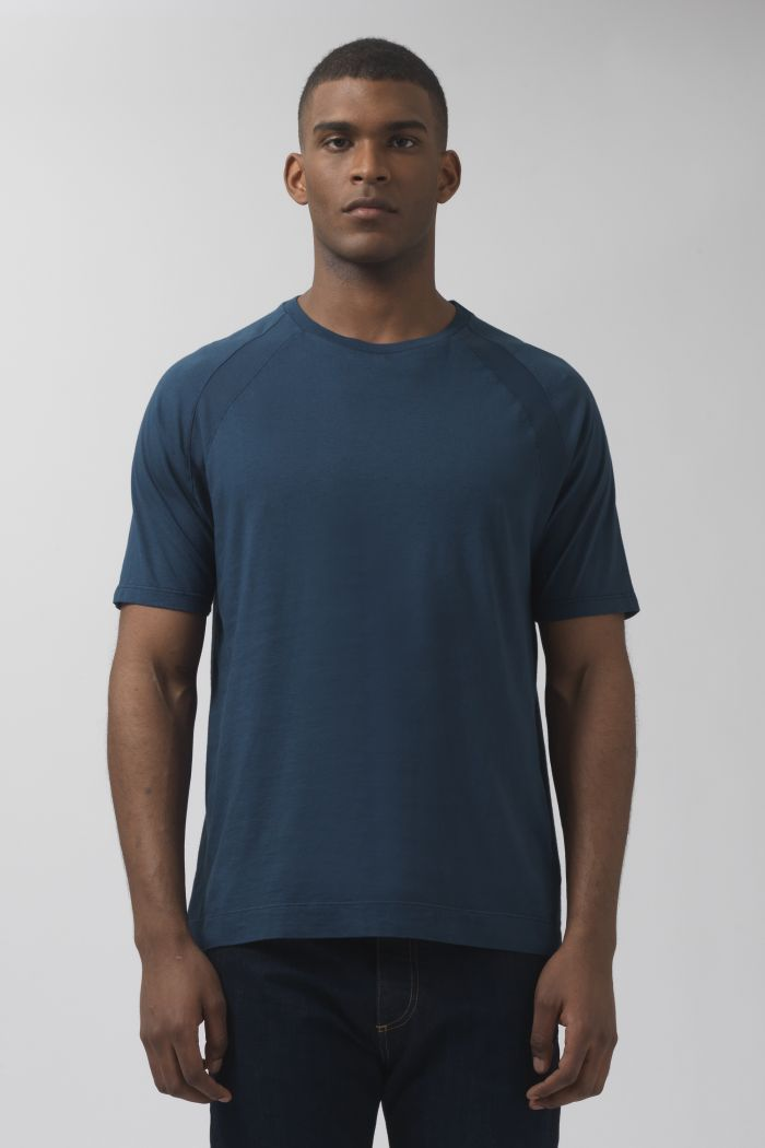 Nino teal organic cotton t-shirt