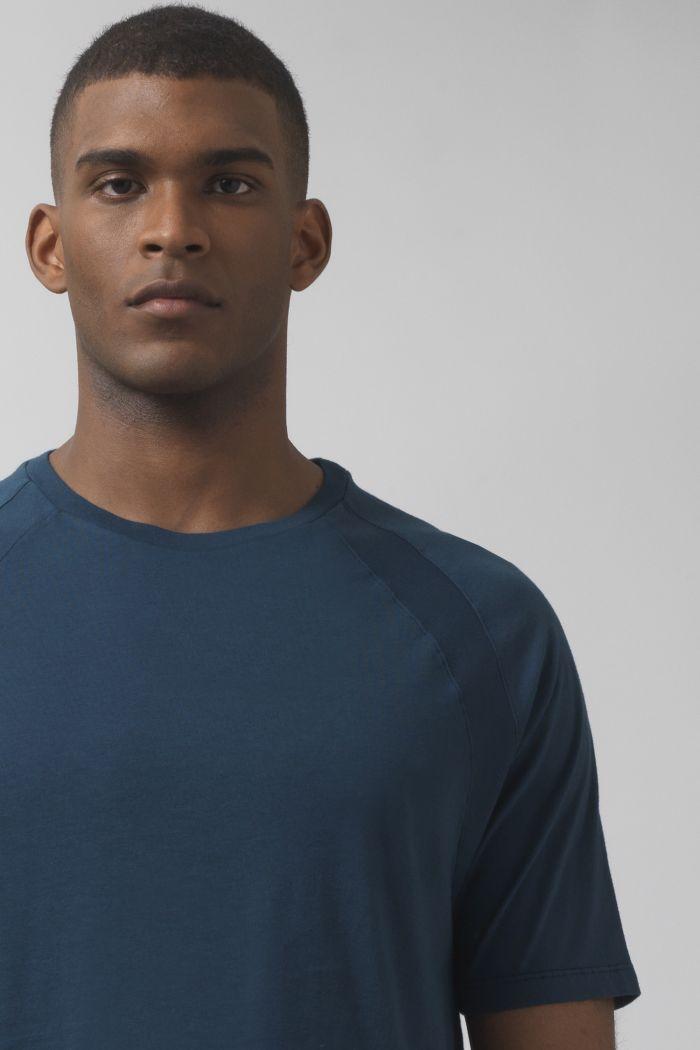 Nino teal organic cotton t-shirt
