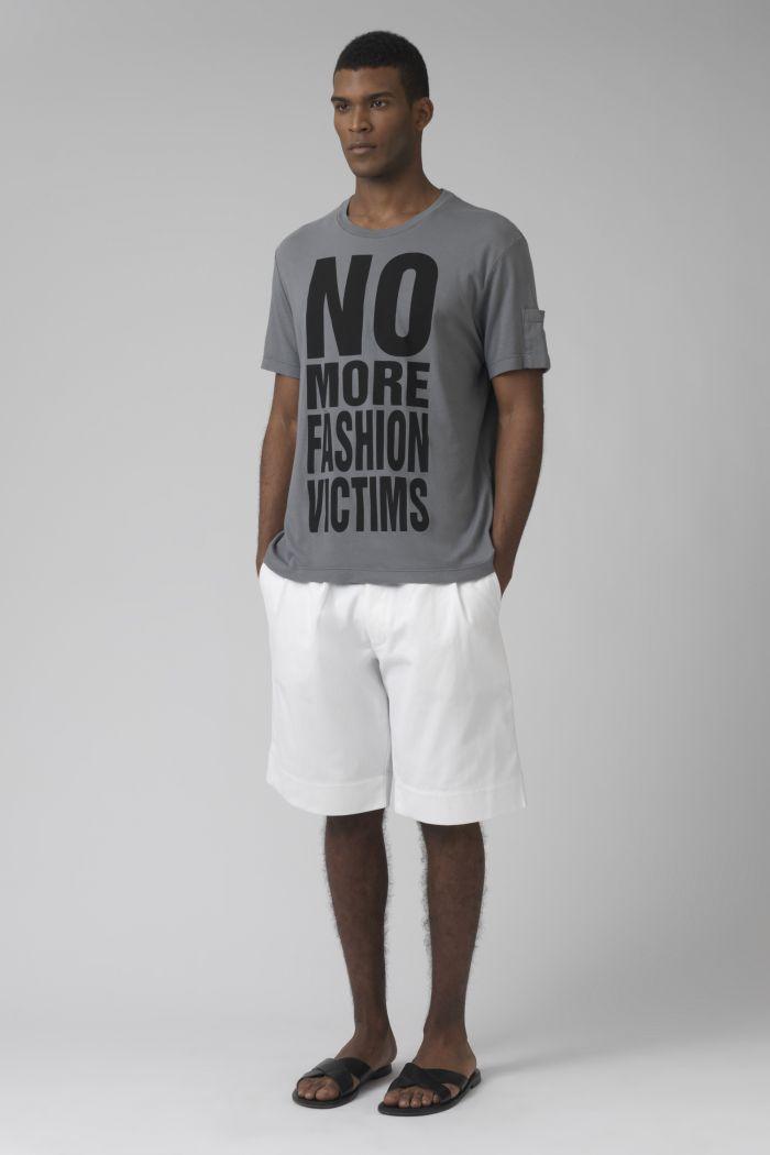 Cedric white organic cotton shorts