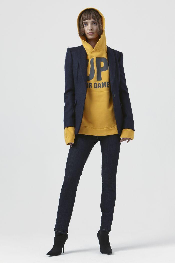 Sofia Navy Wool Blazer