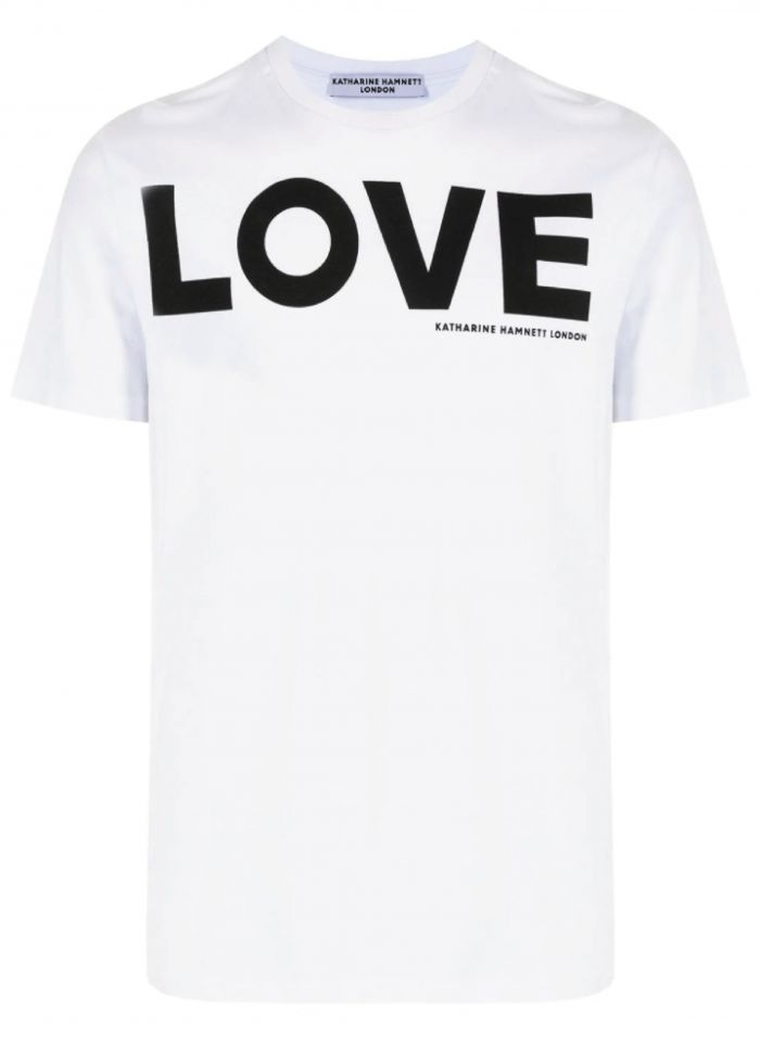 LOVE WHITE ORGANIC COTTON T-SHIRT