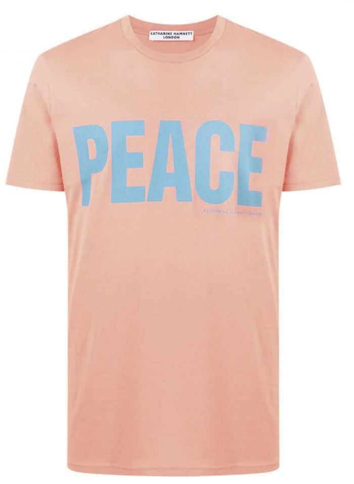 PEACE PINK ORGANIC COTTON T-SHIRT