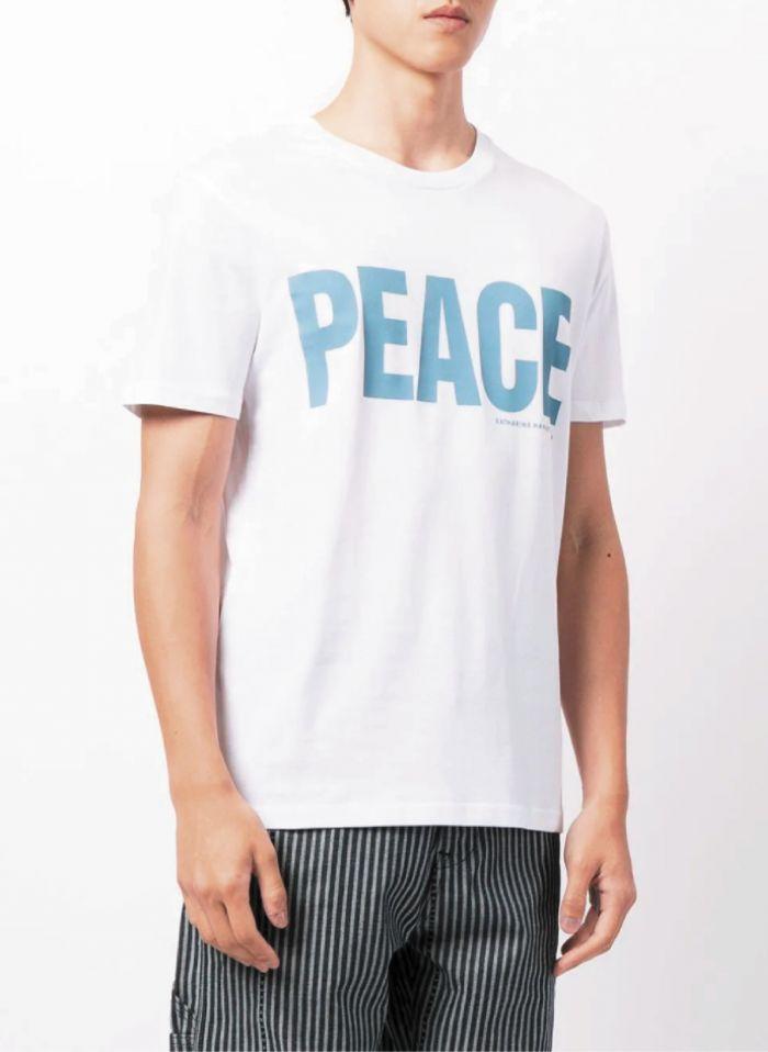 PEACE WHITE ORGANIC COTTON T-SHIRT