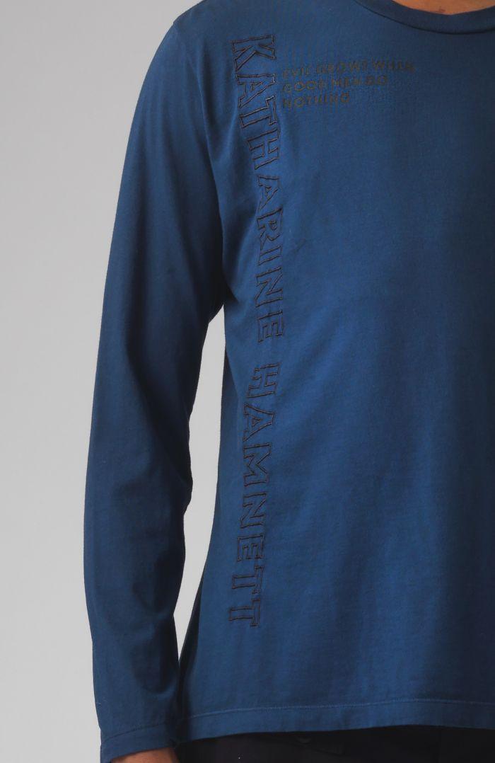 Robbie Quote blue organic cotton T-shirt