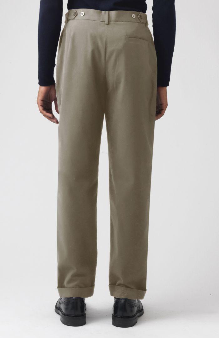 Rupert Khaki Organic Cotton Trousers