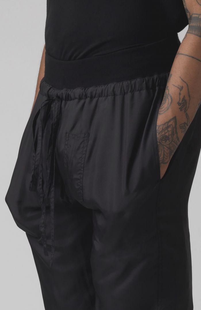 Paddy Black Silk Trackpants