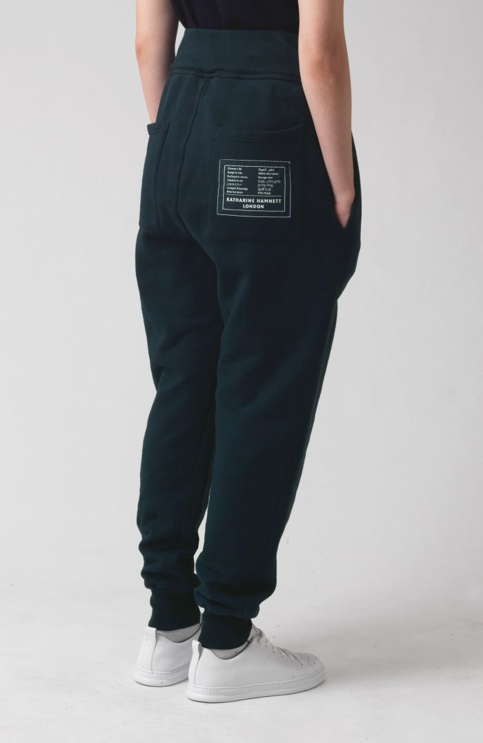 TOMA BOTTLE GREEN ORGANIC COTTON TRACKPANTS