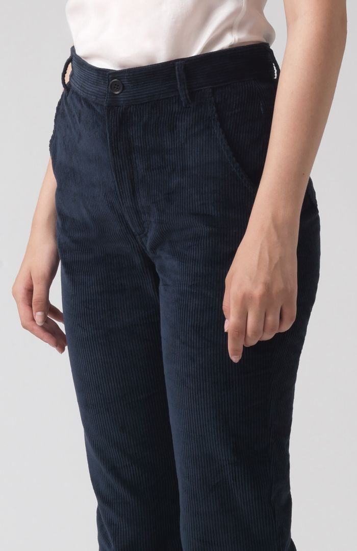 Marina Navy Oragnic Cotton Trousers