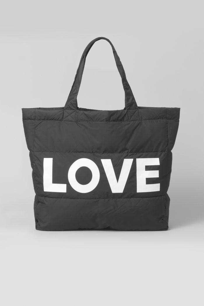 LOVE BLACK PUFFER BAG