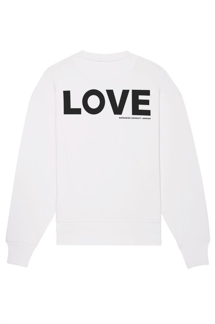 LOVE + LOGO ORGANIC COTTON SWEATSHIRT