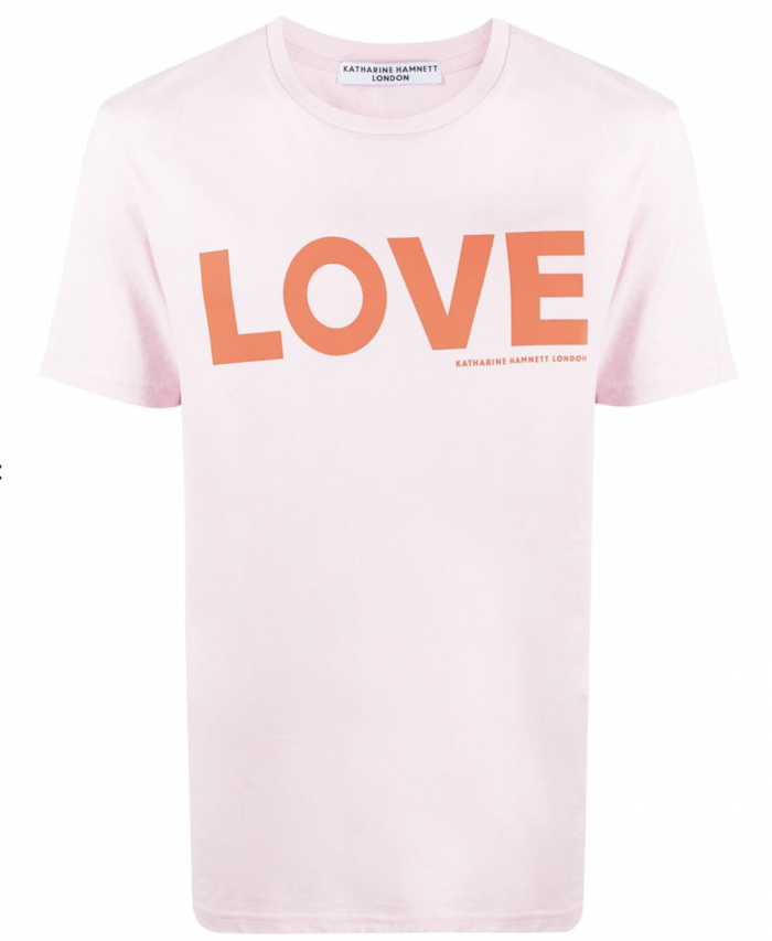 LOVE ORGANIC COTTON PINK T-SHIRT