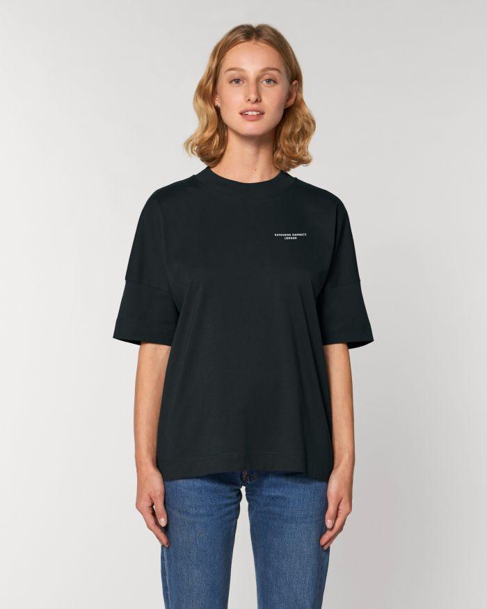 ORGANIC COTTON LOGO BLACK T-SHIRT