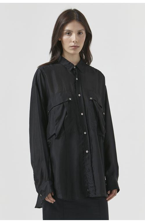 Alex Black Silk Shirt