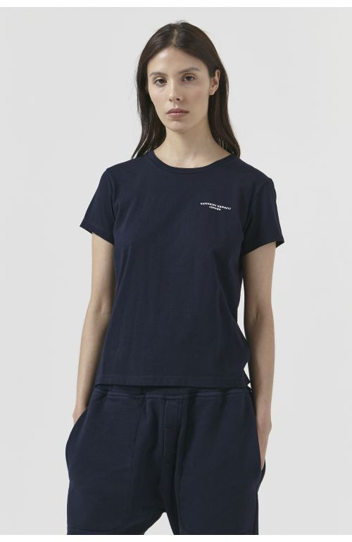 Katie Organic Cotton Navy T-Shirt