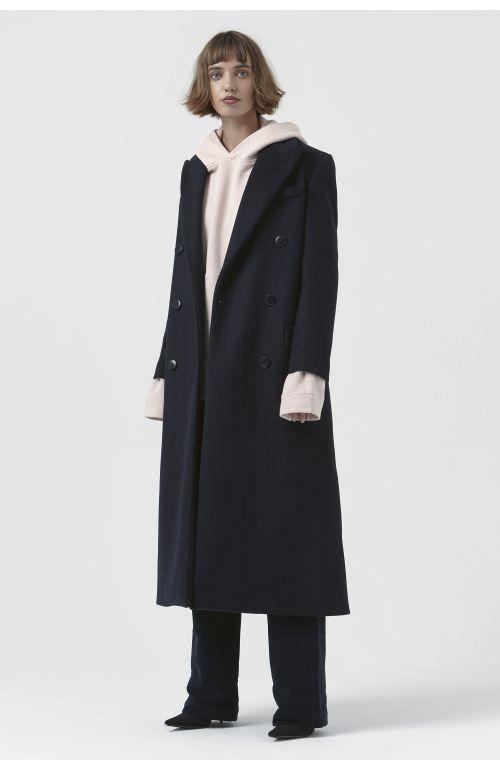 Simona Navy Recycled Wool Coat