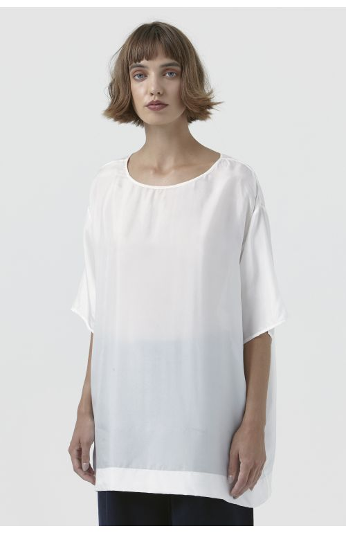 Maggie White Silk T-Shirt