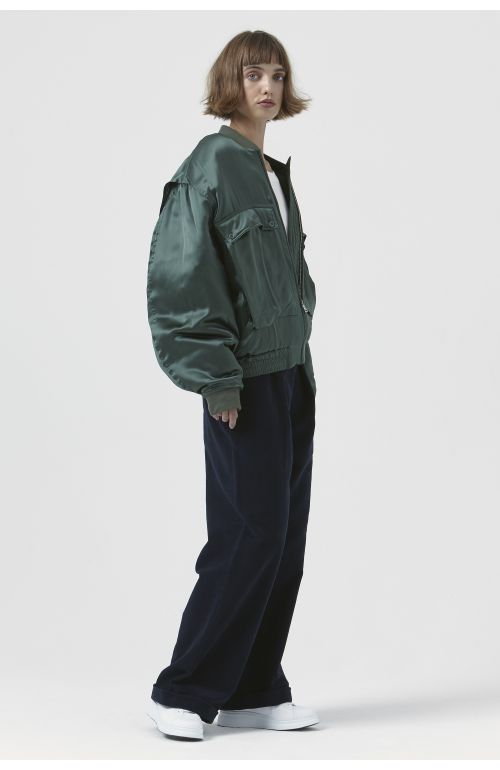 Rene Green Silk Bomber