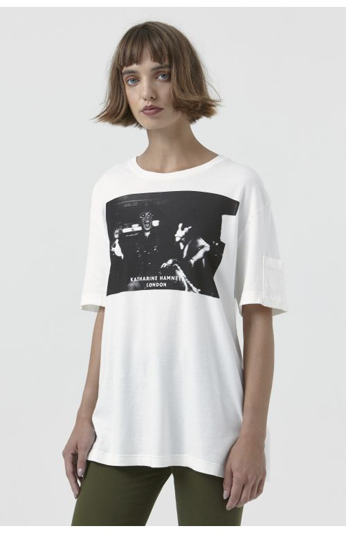 Ivan White Organic Cotton Campaign T-Shirt