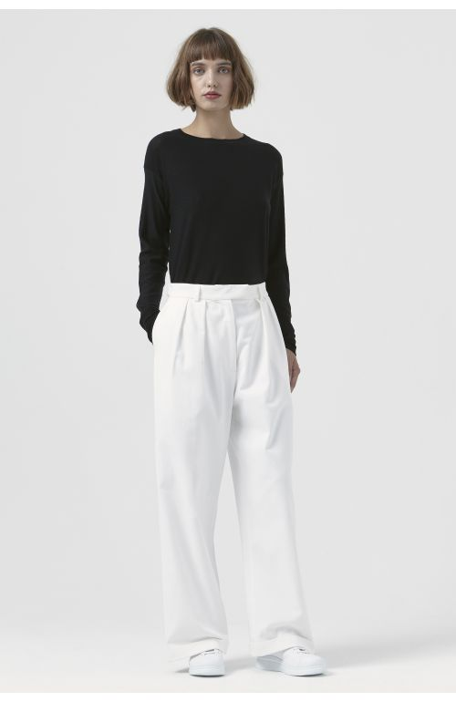 Camilla White Organic Cotton Trousers